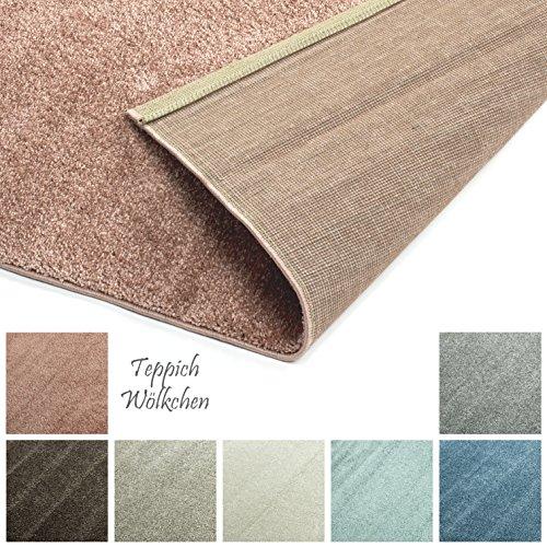 Freude Teppiche Rose (Designer-Teppich Pastell Kollektion | Flauschige Flachflor Teppiche fürs Wohnzimmer, Esszimmer, Schlafzimmer oder Kinderzimmer | Einfarbig, Schadstoffgeprüft (Rosa Rose, 160 x 230 cm))