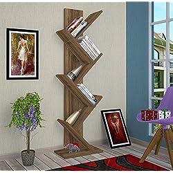 TREE Librería de salón - Nogal - Librerías de oficina - Estantería o librería - Estantería de madera
