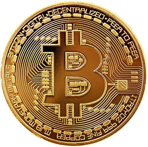 2x Bitcoin Münze by BRINGO | 24-Karat Echt-Gold Überzogen Mit Schutzhülle -