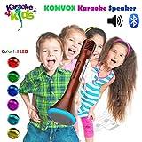 Bambini Microfono Bluetooth wireless / Karaoke Player microfono a condensatore / sistema di Studio Kit microfono in modalit remota per KTV educativo Visualizza compatibile con Smartphone Android, Apple Iphone, PC laptop, Tablet- by KOMVOX (Rosso) immagine