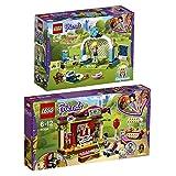 Lego Friends Freizeitpark 2er Set 41330 41333 Fußballtraining mit Stephanie + Olivias Rettungsfahrzeug
