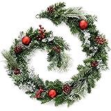 WeRChristmas - Guirnalda decorativa navideña (1,8m, efecto nevado)