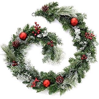 WeRChristmas – Guirnalda Decorativa navideña (1,8m, Efecto nevado)
