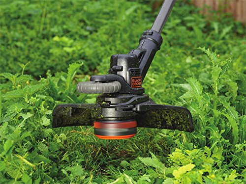 BLACK+DECKER STC1820PCB-XJ 18V 28cm Grass String Trimmer-Bare Unit (Battery not Included), 18 V, Black/Orange