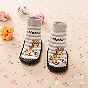 3 Pairs Baby Slipper Socks OKPOW Baby Boy Socks Toddler Cotton Socks for 0-2 Years Old Baby