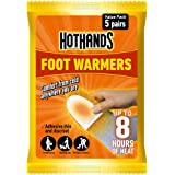 HOTHANDS Foot Warmers - 5 Pairs - 8 hours of heat - Air activated - Ready to use