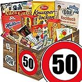 Ostalgie Set L | Zahl 50 | Geburtstags Geschenk Vater | Suessigkeiten Box