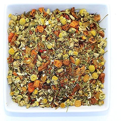 Tropical Relax Organic Chamomile Herbal Loose Leaf Tea Blend - Caffeine Free - 3.5oz / 100g