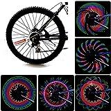 JAMSWALL Fahrrad Rad Licht bunte LED-Rad Speichenreflektor für Radfahren ohne Batterie