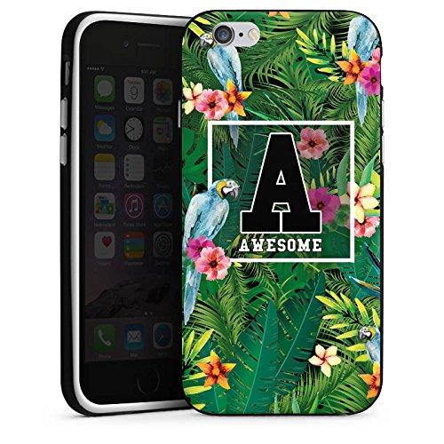 Apple iPhone X Silikon Hülle Case Schutzhülle Awesome College Blumen Silikon Case schwarz / weiß