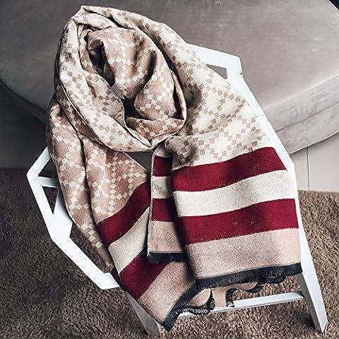 OME&QIUMEI Herbst Und Winter Schal Schal Mit Karierten Schal Schal Khaki