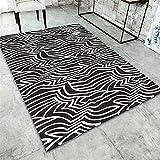 DAMENGXIANG Moderne Schwarze Weiße Weiche Teppich Wohnzimmer Couchtisch Schlafzimmer Mat Rutschfeste Fußmatte Home Decor Foot Pad 140 X 200 cm