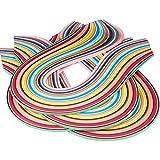 pandahall Elite 36 Farben 1440 Streifen Papier Quilling Streifen Papierbreite Set, 525x7mm, 4 Stück