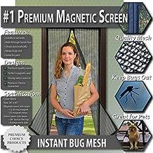 Mosquitera magnética para puertas - Nuevo diseño, Sin huecos, Manos libres; Instálela usted mismo. Cortina mosquitera que se cierra como magia. ¡Deje entrar el aire fresco y los insectos afuera