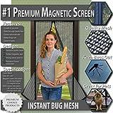 Premium Fliegengitter Tür mit Magnetverschluss. Magnetvorhang Schließt Automatisch. Einfach Montierbarer