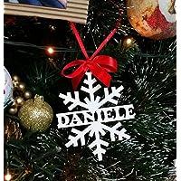 Decorazione Natalizia in Legno Naturale Laccato Bianco per Il Tuo Albero di  Natale. Perfetta Come f32c5861cd91