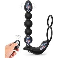 Utimi Vibrant Butt Plug Perles Anales 3 Moteurs Masseurs de Prostate, 10 Modes pour Couple avec Télécommande