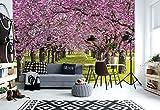 Wallsticker Warehouse Blühende Bäume Vlies Fototapete Fotomural - Wandbild - Tapete - 254cm x 184cm / 2 Teilig - Gedrückt auf 130gsm Vlies - 010V4 - Wald und Bäume