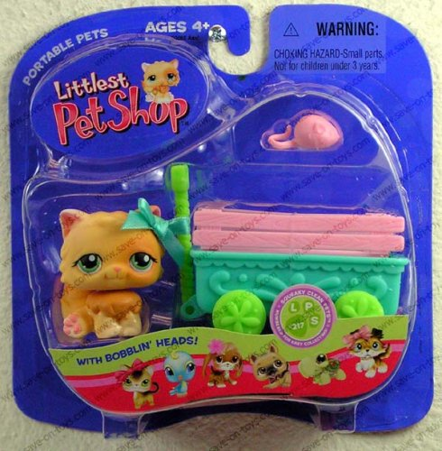 Littlest Pet Shop - Portable Pets - Bollerwagen-Set mit Katze LPS - Pet Littlest Shop-pet-sets