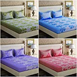 Bedsheets By Decorista|Double Bedsheets Cotton|bedsheets With Pillow Cover Combo|bedsheets Plain Double King Size| 5d Bedsheets| Bedsheets Combo 4 Bedsheets With 8 Pillow Covers
