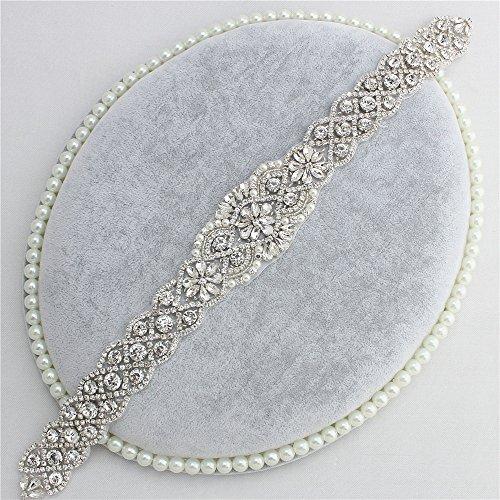 Hochzeitskleid Gürtel DIY Farbige Rhinestone Appliques mit Kristallen und Perlen (Splitter)