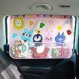 WESEEDOO Baby Children Car Window Sun Shades Protección para su bebé, niños, Mascotas, con Bolsa de Almacenamiento (Rosa)