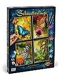 Noris Spiele Schipper 609340628 - Malen nach Zahlen - Schmetterlinge (Quattro) je 18x24 cm