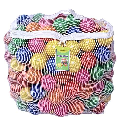 Hosaire 100 Piezas Colorida Bola de Plástico Bolas de Plástico Suave Llena de Aire para Piscina de Pelotas Casas de Rebote size 5.5cm*100Pcs