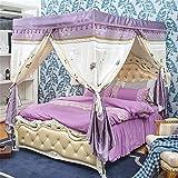 Aszhdfihas Tenda per ombreggiamento 1,5m a tre porte in zanzariera in stile palazzo a forma di zanzariera adatta per camera da letto
