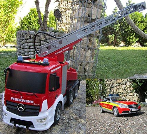 RC Feuerwehr Mercedes 2 er Set Antos 2,4 GHz 1:20 & Sprirtzfunktion 404960/7*