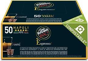 Caffè Vergnano 1882 Èspresso Capsule Caffè Compatibili Nespresso, Napoli   - Pack da 50 capsule