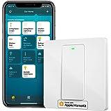 Interruptor de Pared Inteligente, 1 Vía, 1 Canal. Wi-Fi Interruptor. Compatible con HomeKit Siri, Alexa, Google Assistant y S