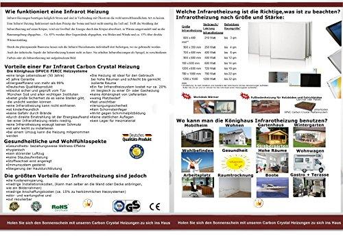 Bildheizung ✓ GS TÜV Siegel ✓  5 Jahre Herstellergarantie ✓ Elektroheizung mit Überhitzungsschutz ✓ - 2