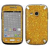 atFolix Samsung Galaxy Young (GT-S6310) Skin FX-Glitter-Golden-Fleece Designfolie Sticker - Reflektierende Glitzerfolie