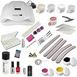 Kit débutant Starter UV Starlight incl.Dispositif combiné UV-LED avec beaucoup d'accessoires ongles d'art