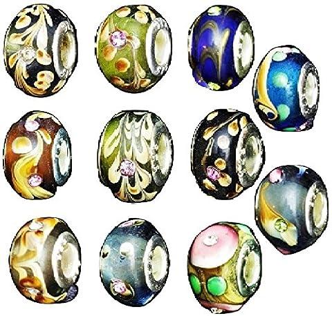 Perles en cristal de charme pour bracelets de charme / Choisissez Bean Quanitity Pack Size