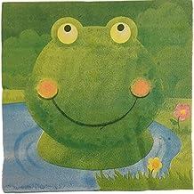 20 Papierservietten * GRÜNER FROSCH * Für Kindergeburtstag Oder Mottoparty  // Servietten Napkins Green Frog
