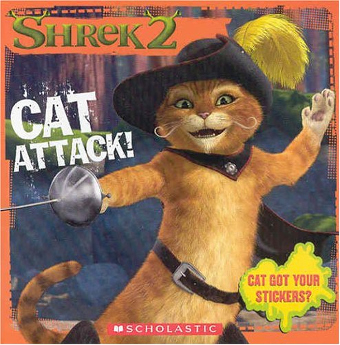 Click for larger image of 'Shrek 2' Cat Attack!: Storybook (Shrek 2 (Scholastic Paperback))
