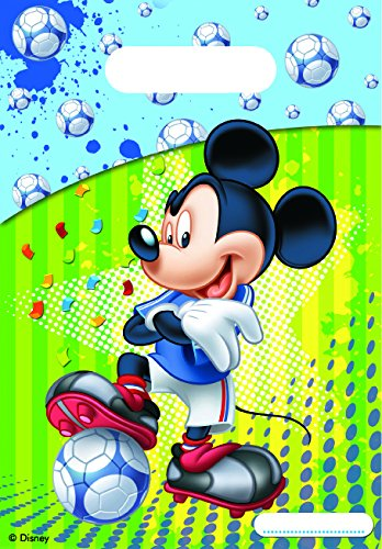 Disney Mickey Mouse Football Sacs de fête, Lot de 6