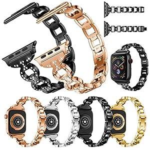 BZLine Armband | Luxus Edelstahl Ersatz Uhrenarmband | Für Apple Watch Series 4 40mm/44mm | Solide Legierung Drahtgeflecht mit Interlock-Verschluss | Bandlänge: 175 mm | Handgelenkgröße: 135-220mm