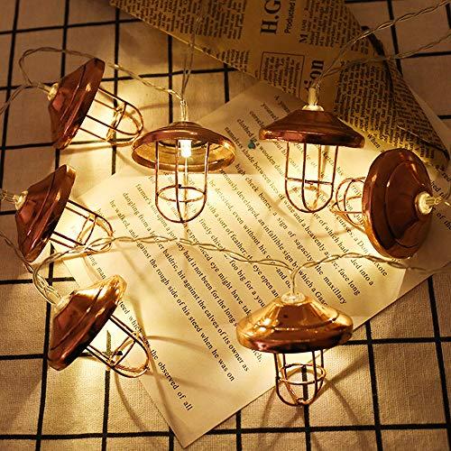 Wohnkultur,TwoCC Metall Schmiedeeisen 10 LED Eisen Lampenschirm Schlafzimmer Dekorativ Licht Schnur -