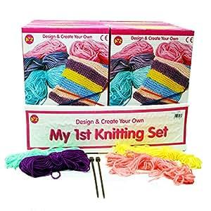 pbros my frist knitting set kit tricot d butant pour enfant jeux et jouets. Black Bedroom Furniture Sets. Home Design Ideas
