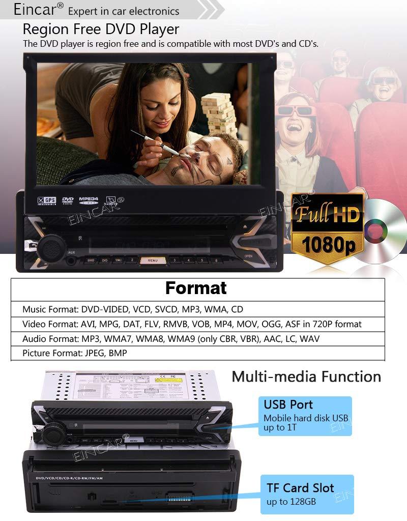 Android-71-Stereo-Receiver-1-Lrm-Auto-DVD-Spieler-GPS-Navigation-mit-Untersttzungskamera-7-Touchscreen-LCD-WiFi-Bluetooth-Wireless-Mirrorlink-USB-SD-Slot-AM-FM-RDS-Radio-Fernbedienung