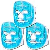 Schramm® Set van 3 koelmaskers blauw gezichtsmasker koelmasker koelbril oogmasker gelmasker slaapmasker ontspanningsmasker ge