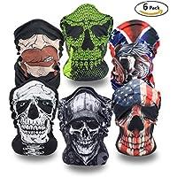 6 x Premium multifunción Bandana | Braga | | paño de manguera | Máscaras para moto bicicleta Esquí Paintball Gamer Carnaval Disfraz Calavera Máscara #2
