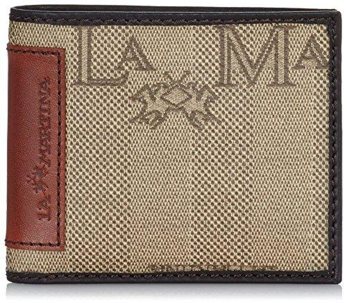 La Martina Portafoglio Uomo, 8 Carte di Credito, Marrone Scuro