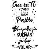 2pcs Pegatinas Citas Inspiradoras Pared Español Vinilos Frases Motivadoras Letras Stickers Adhesivos Negro Decorativos Habita
