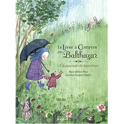 Le livre à compter de Balthazar : A la poursuite du lapin brun - pédagogie Montessori