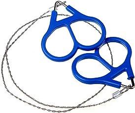 censhaorme Edelstahl-Handtaschenkette Drahtsägen Tragbare Überleben Camping Handsaws