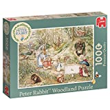 Jumbo 19480 Peter Rabbit Woodland Puzzle 1000 Piece Jigsaw, Green